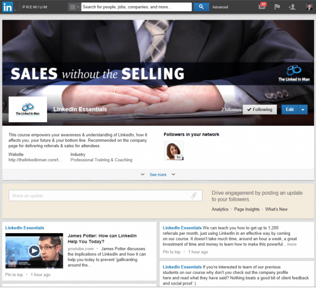 New Showcase pages for companies on LinkedIn