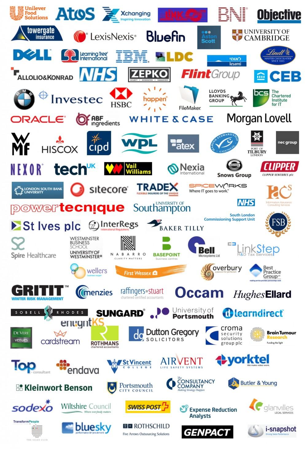 Client logos for website