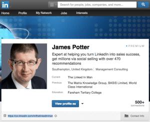 Blog James Potter profile