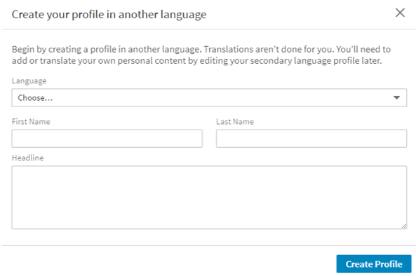 how to add language to linkedin